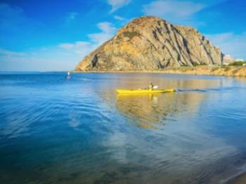 Kayak on bay