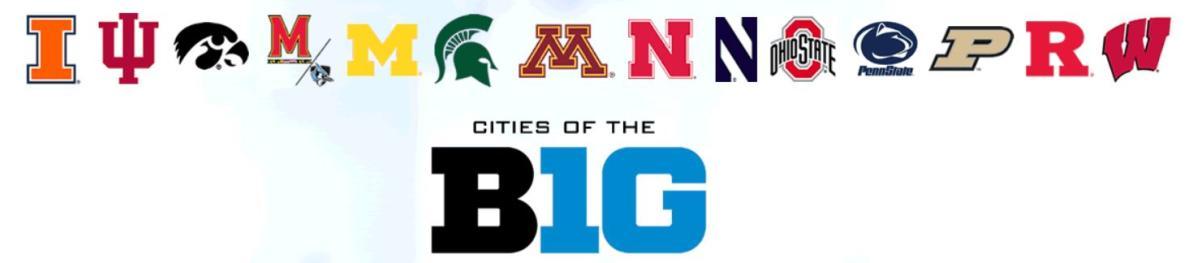 Cities of Big Ten 2