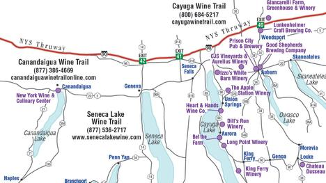 Wine tour map