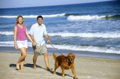 Couple with Dog - beach GI-210