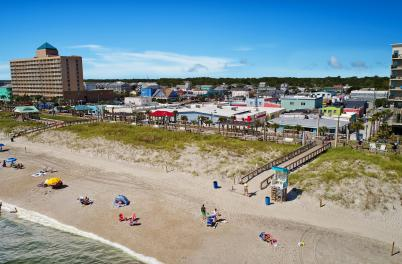 Aerial of the Carolina Beach Boardwalk