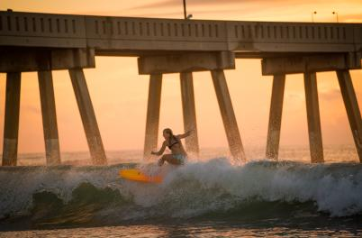 Surfing Wrightsville Beach