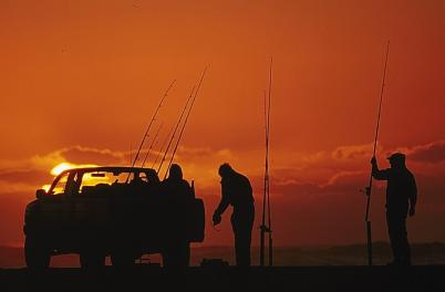 Driving & Fishing on the beach - cropped version