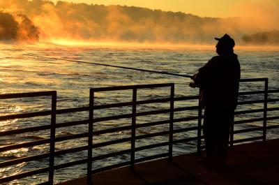 Fisherman at Conowingo Dam