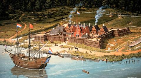 Fort Orange, 1635 by Len Tantillo