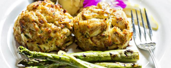 Crab Cakes at Boatyard Bar & Grill.