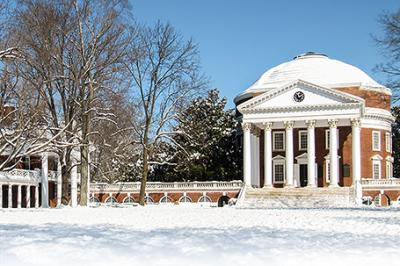 UVA's Rotunda in the snow