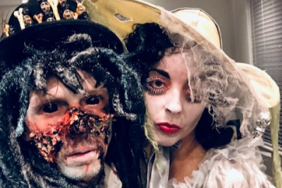 Couple dressed up as zombies