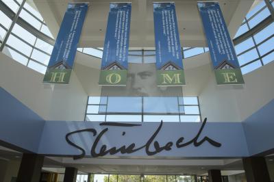 Inside of the National Steinbeck Center.