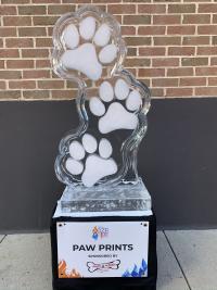 Paw Prints Ice Sculpture