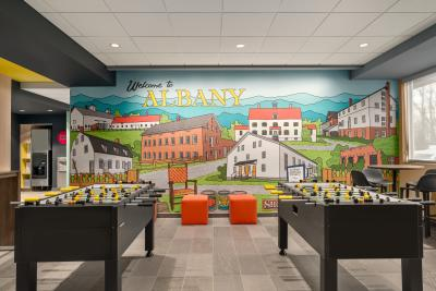 Mural at Tru by Hilton Albany Airport