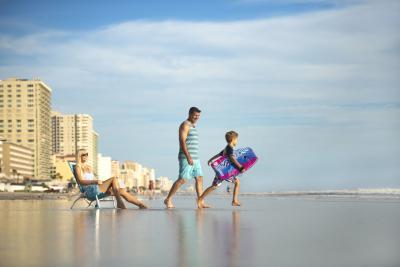 Family enjoying the beach in Daytona Beach