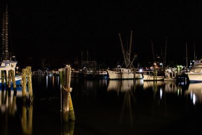 Pass Christian Harbor at night - Douglas H. Smith