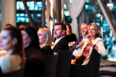 A room of people looking interested at Crown Sydney for a Perth destination showcase
