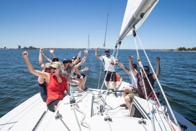 Sailing on the Swan River for Dreamtime 2019