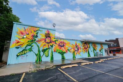 List Frost sunflower mural