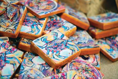 Handmade coasters by Christina Pappion