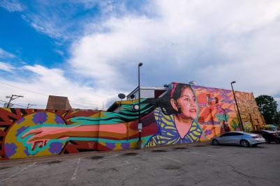 Jenny Ustick & Atalie Gagnet mural