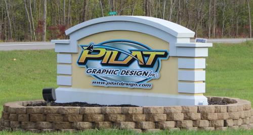 Exterior Sign for Pilat Graphic Design