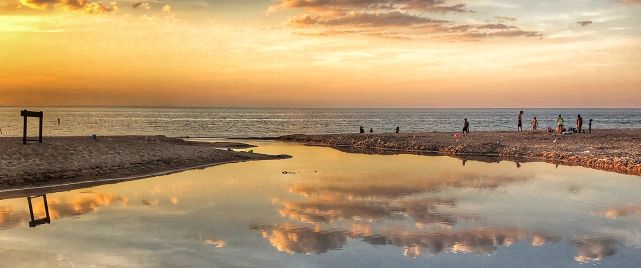 South Shore sunsets along Lake Michigan