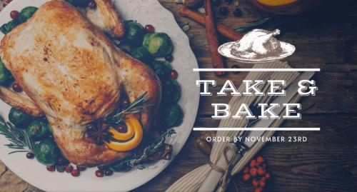 The Standard Plate and Pour Take & Bake Thanksgiving promotion