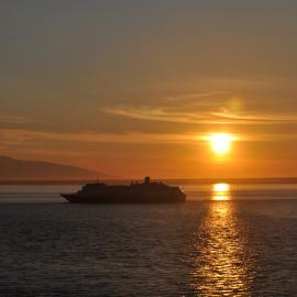 Cruising Cook Inlet from Anchorage