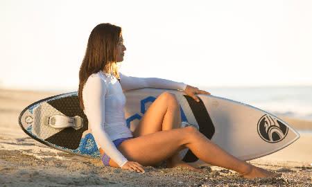 Surfboard & woman