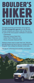 Boulder's Hiker Shuttles Brochure Cover