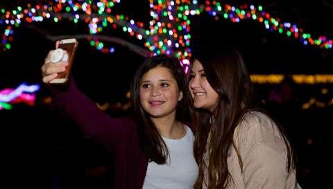 Overland Park Luminary Walk Selfie