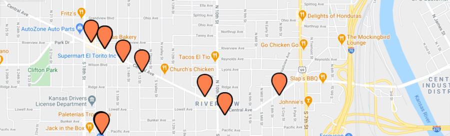 Taco Trail Map - Central Avenue Area
