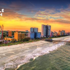 Myrtle Beach Aerial Sunset