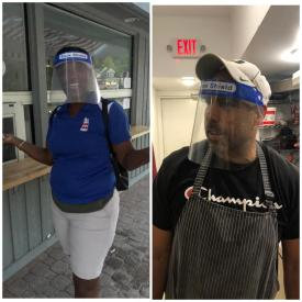 The Homestead Staff in Face Shields