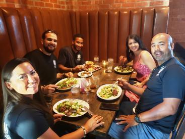 YOLO crew eating at Local Yocal