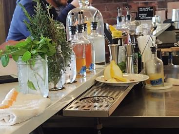 18th St. Distillery fresh herbs - Christine Olson