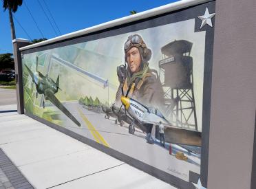 Historic Punta Gorda Army Air Field Mural by Punta Gorda Historic Mural Society