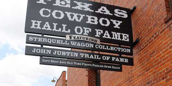 Texas Cowboy Hall of Fame sign