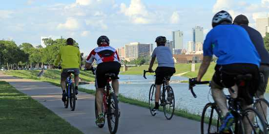 Biking along the Trinity River
