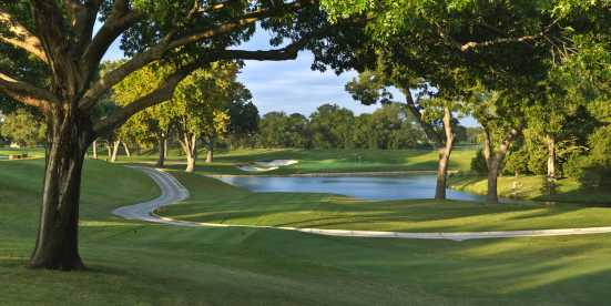 Overlooking the golf course at Colonial Country Club in Texas
