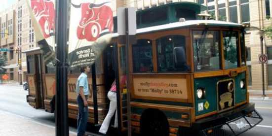 Molly the Trolley und Fort Worth Bike Share