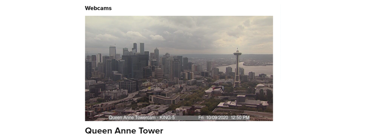 Queen Anne Tower webcam in downtown Seattle