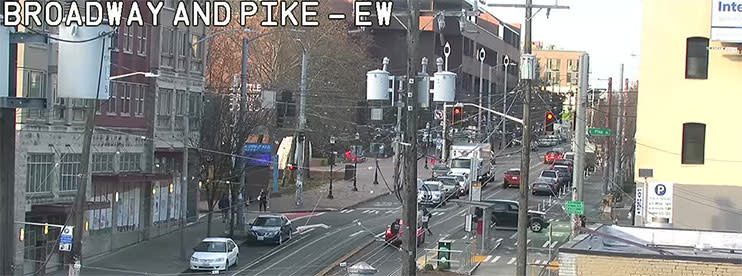 Capitol Hill Seattle Webcam view of Broadway and Pike
