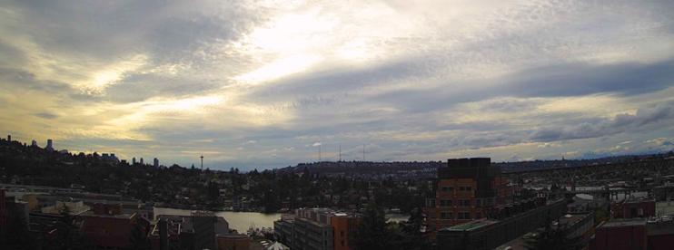 University of Washington Live Webcam looking West