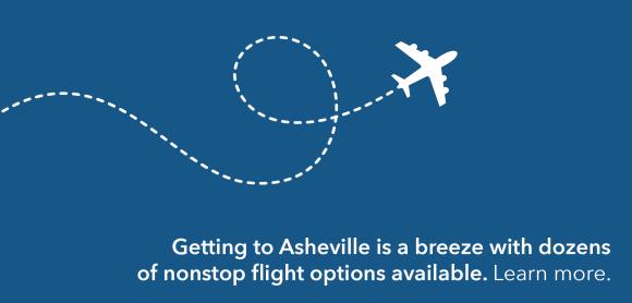 Airplane flight path graphic