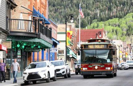 Free Trolley on Park City's Historic Main Street