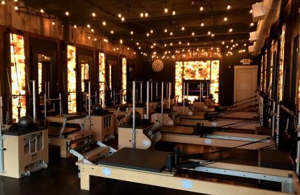 Interior of a Pilates studio