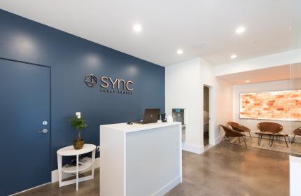 Lobby of Sync Float Center