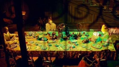 Hidden Mickey inside The Haunted Mansion