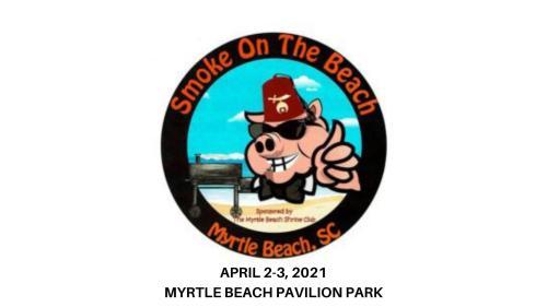 Smoke on the Beach BBQ 2021 logo, April 2-3, 2021, Myrtle Beach, SC