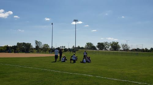 Game Day Sports Baseball Team Huddle at the RecPlex