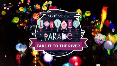 Image of the Sandy Springs Lantern Parade with Logo